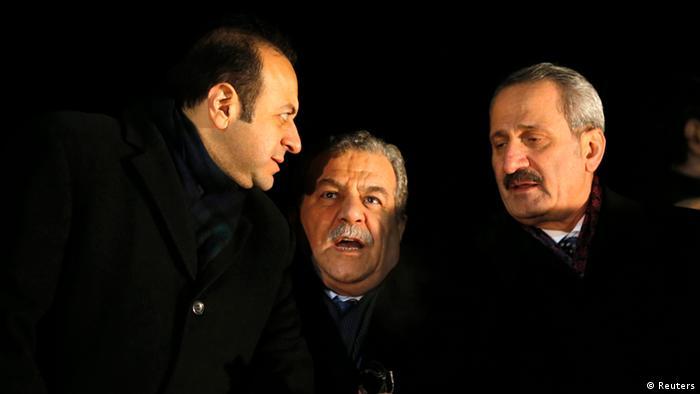 Dönemin AB Bakanı Egemen Bağış, İçişleri Bakanı Muammer Güler ve Ekonomi Bakanı Zafer Çağlayan