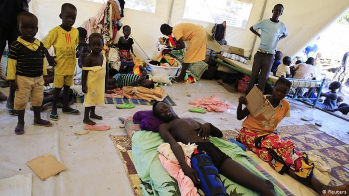 South Sudan: Refugees at Juba's Tomping United Nations base