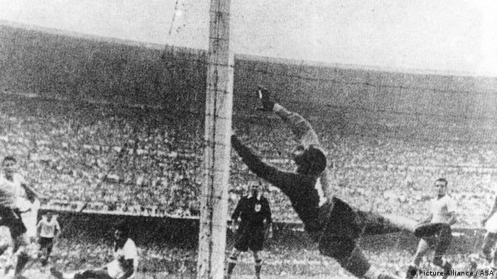 WM 1950 Brasilien Uruguay Tor