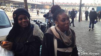 Second-generation Nigerian-Italian girls Ramat and Joy