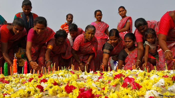 Indien Gedenken Tsunami Opfer Flut Katastrophe
