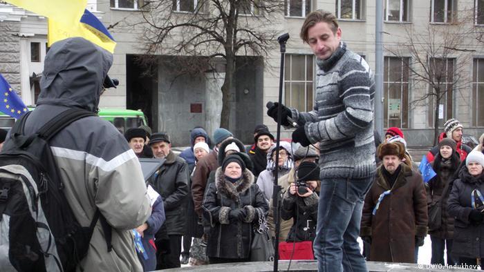 Сергій Жадан - активний учасник харківського Євромайдану