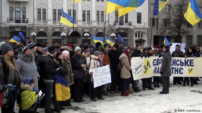 Ukraine - Maidan activists in Kharkiv