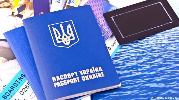 Symbolbild - Ukrainischer Pass