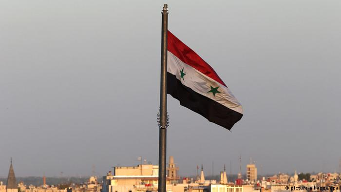 Syrien Flagge in Damaskus