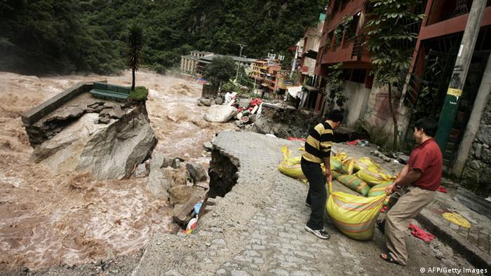 Enchente no Peru durante a última passagem do El Niño