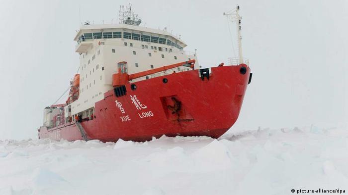 Chinesischer Eisbrecher Snow Dragon oder Xuelong (picture-alliance/dpa)