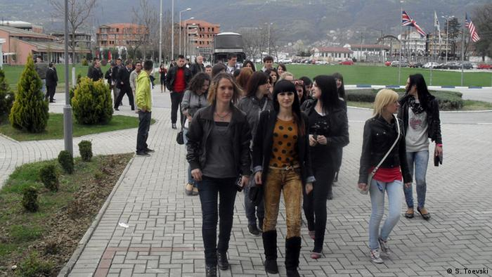 Mazedonien Studenten Stul Universität in Tetovo