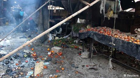 Syrien Aleppo Markt Bombardierung Beschuss Luftangriff