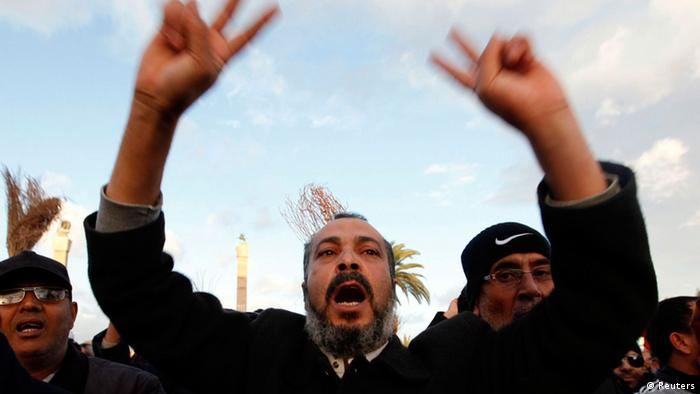 Anti-government protests in Tripoli, Feb 2014 Photo: REUTERS/Ismail Zitouny