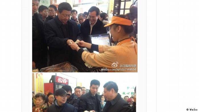 China Xi Jinping Weibo Screenshot