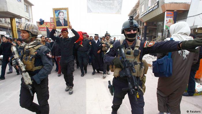 Irak Ramadi Räumung Sunnitisches Protestlager 30.12.2013