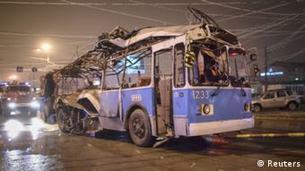 bus destroyed ager explosion