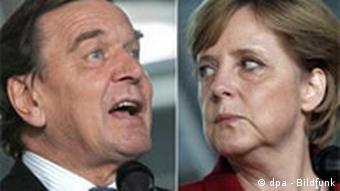 Sondierungsgespräche - Schröder Merkel