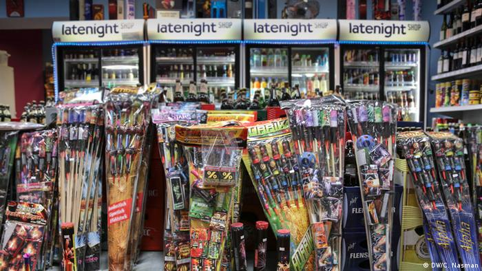 A fireworks store in Berlin