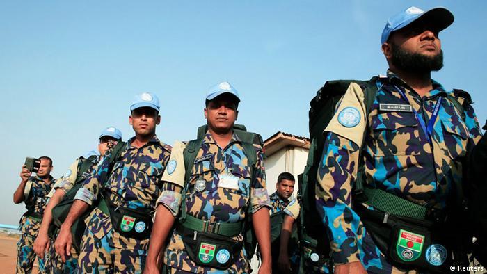 Konflikt im Südsudan Ankunft bengalische UN-Soldaten 31.12.2013