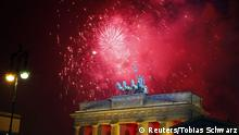 Silvesterfeuerwerk am Brandenburger Tor in Berlin