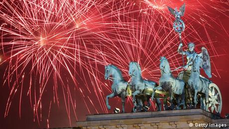 Silvester in Berlin, Brandeburg Gate (Getty Images)