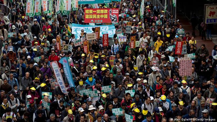 China Protest in Hong Kong