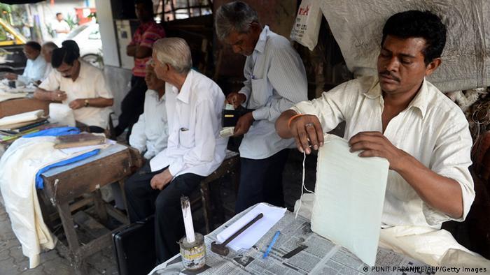 Indien Letter Writer Illiteralität