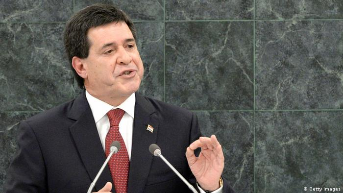 Paraguay Präsident Horacio Cartes