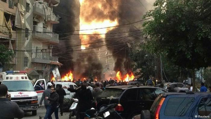 Explosion in Beirut Libanon 02.01.2014