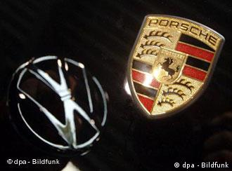 VW and Porsche badges