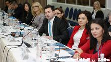 Albanian School of Political Studies, suported from the Council of Europe 2. Discussion between students during the activities of Albania School of Political Studies in Tirana. *** Author: Albanian School of Political Studies, (ASPS) Place: Tirana, ALBANIA