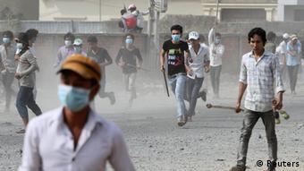 Protest Textilarbeiter in Kambodscha (Reuters)