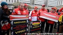 Schumacher-Fans zeigen Unterstützung für ihr Idol