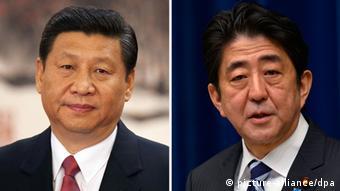 Xi Jinping und Shinzo Abe