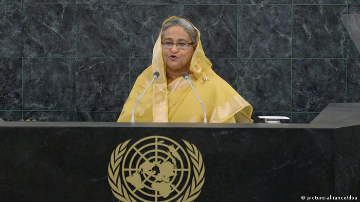 Bangladesh Sheikh Hasina Ministerpräsidentin (picture-alliance/dpa)