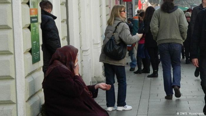 Prosjakinja u Sarajevu