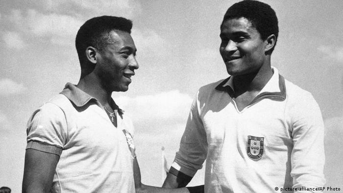 Pele und Eusebio da Silva Ferreira (Foto: picture-alliance/AP Photo)