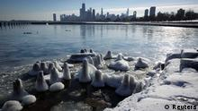 Wetter Kälte Chicago USA