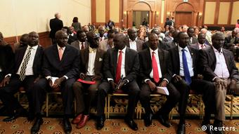 The South Sudanese negotiating team in Addis Ababa