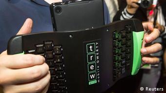 Один из экспонатов выставки: клавиатура для планшета