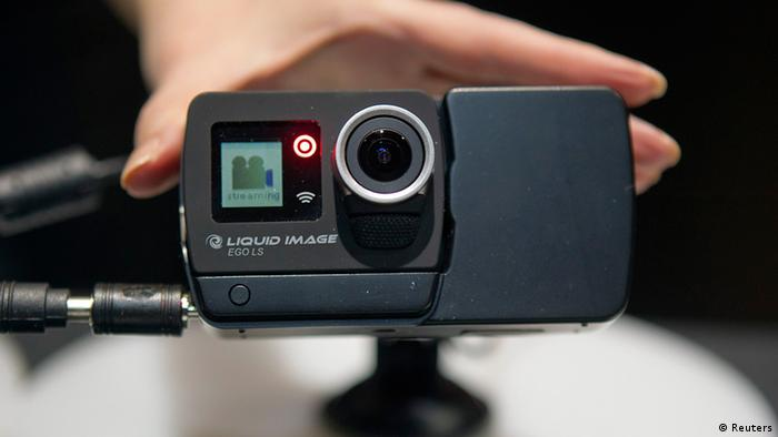 The portable camera being shown in Las Vegas