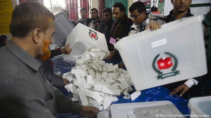 Bangladesch Stimmenauszählung 05.01.2014