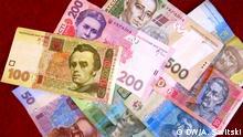 ukrainische Geldscheine