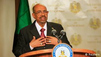 Omar al-Bashir speaking in Juba 06.01.2014