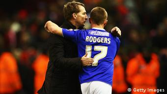England Fußball FA Cup Liverpool Oldham Brendan Rodgers und Sohn Anton Rodgers