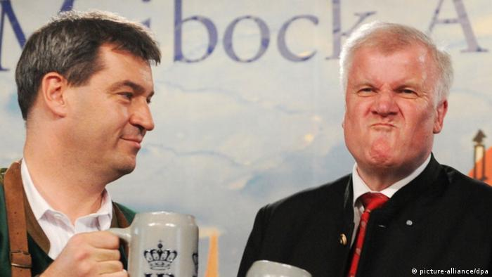 CSU premier Horst Seehofer and finance minister Markus Söder