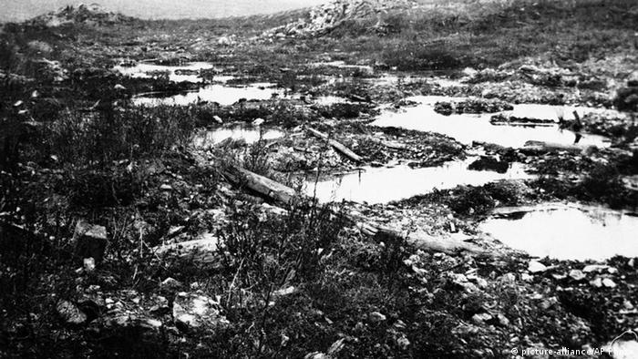 Campos devastados em Verdun