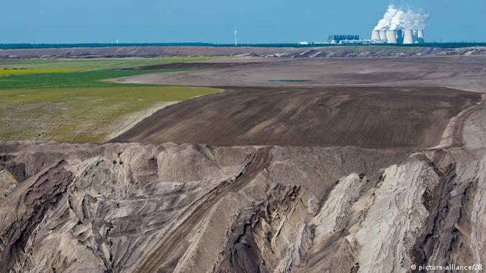 Open-pit lignite mining in eastern Germany