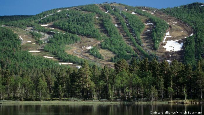 Norwegen Skipisten im Sommer