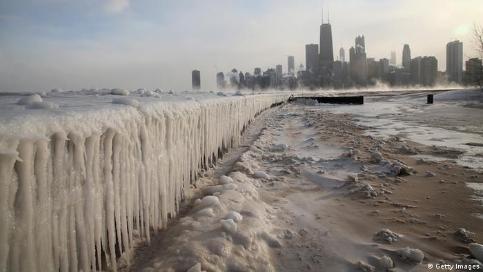 Kältewelle in den USA Chicago 06.01.204