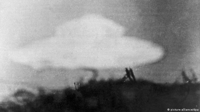 تصویر از آرشیو؛ این عکس که شیءای شبیه به یک بشقابپرنده را نشان میدهد، در سال ۱۹۵۴ توسط پسری ۱۳ساله در کانیستن بریتانیا ثبت شد