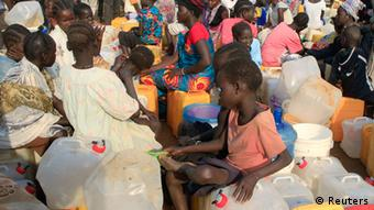 South Sudanese refugees in a UN camp