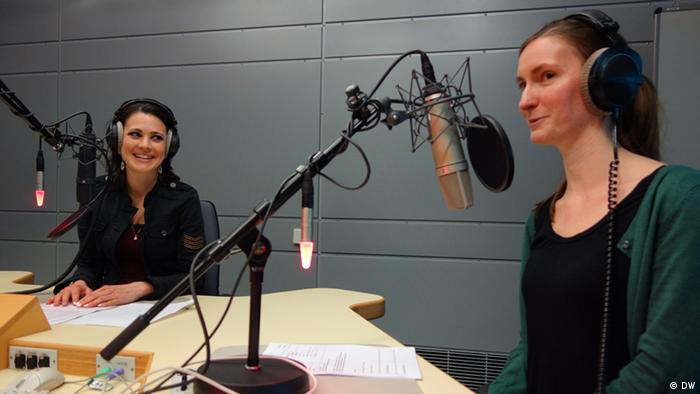 Kate Müser, Natalie Muller in the Pulse studio, Photo: DW